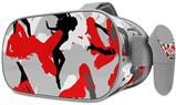 Decal style Skin Wrap compatible with Oculus Go Headset - Sexy Girl Silhouette Camo Red (OCULUS NOT INCLUDED)