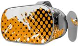 Decal style Skin Wrap compatible with Oculus Go Headset - Halftone Splatter White Orange (OCULUS NOT INCLUDED)