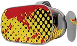Decal style Skin Wrap compatible with Oculus Go Headset - Halftone Splatter Yellow Red (OCULUS NOT INCLUDED)