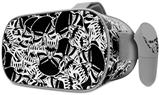 Decal style Skin Wrap compatible with Oculus Go Headset - Scattered Skulls Black (OCULUS NOT INCLUDED)