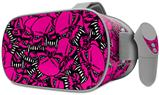 Decal style Skin Wrap compatible with Oculus Go Headset - Scattered Skulls Hot Pink (OCULUS NOT INCLUDED)