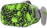Decal style Skin Wrap compatible with Oculus Go Headset - Scattered Skulls Neon Green (OCULUS NOT INCLUDED)