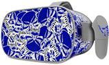 Decal style Skin Wrap compatible with Oculus Go Headset - Scattered Skulls Royal Blue (OCULUS NOT INCLUDED)