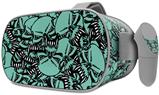 Decal style Skin Wrap compatible with Oculus Go Headset - Scattered Skulls Seafoam Green (OCULUS NOT INCLUDED)