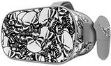 Decal style Skin Wrap compatible with Oculus Go Headset - Scattered Skulls White (OCULUS NOT INCLUDED)