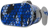 Decal style Skin Wrap compatible with Oculus Go Headset - HEX Mesh Camo 01 Blue Bright (OCULUS NOT INCLUDED)
