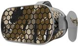 Decal style Skin Wrap compatible with Oculus Go Headset - HEX Mesh Camo 01 Brown (OCULUS NOT INCLUDED)