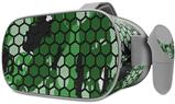 Decal style Skin Wrap compatible with Oculus Go Headset - HEX Mesh Camo 01 Green (OCULUS NOT INCLUDED)