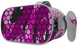 Decal style Skin Wrap compatible with Oculus Go Headset - HEX Mesh Camo 01 Pink (OCULUS NOT INCLUDED)