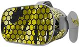 Decal style Skin Wrap compatible with Oculus Go Headset - HEX Mesh Camo 01 Yellow (OCULUS NOT INCLUDED)