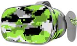 Decal style Skin Wrap compatible with Oculus Go Headset - WraptorCamo Digital Camo Neon Green (OCULUS NOT INCLUDED)