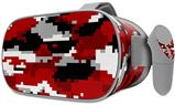 Decal style Skin Wrap compatible with Oculus Go Headset - WraptorCamo Digital Camo Red (OCULUS NOT INCLUDED)