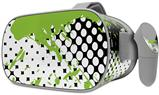 Decal style Skin Wrap compatible with Oculus Go Headset - Halftone Splatter Green White (OCULUS NOT INCLUDED)