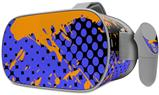 Decal style Skin Wrap compatible with Oculus Go Headset - Halftone Splatter Orange Blue (OCULUS NOT INCLUDED)