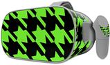 Decal style Skin Wrap compatible with Oculus Go Headset - Houndstooth Neon Lime Green on Black (OCULUS NOT INCLUDED)