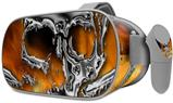 Decal style Skin Wrap compatible with Oculus Go Headset - Chrome Skull on Fire (OCULUS NOT INCLUDED)