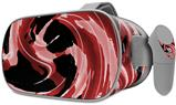 Decal style Skin Wrap compatible with Oculus Go Headset - Alecias Swirl 02 Red (OCULUS NOT INCLUDED)