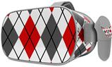 Decal style Skin Wrap compatible with Oculus Go Headset - Argyle Red and Gray (OCULUS NOT INCLUDED)