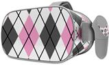 Decal style Skin Wrap compatible with Oculus Go Headset - Argyle Pink and Gray (OCULUS NOT INCLUDED)
