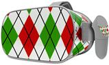 Decal style Skin Wrap compatible with Oculus Go Headset - Argyle Red and Green (OCULUS NOT INCLUDED)