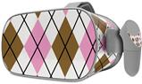 Decal style Skin Wrap compatible with Oculus Go Headset - Argyle Pink and Brown (OCULUS NOT INCLUDED)