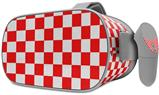 Decal style Skin Wrap compatible with Oculus Go Headset - Checkered Canvas Red and White (OCULUS NOT INCLUDED)