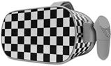 Decal style Skin Wrap compatible with Oculus Go Headset - Checkered Canvas Black and White (OCULUS NOT INCLUDED)