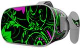 Decal style Skin Wrap compatible with Oculus Go Headset - Twisted Garden Green and Hot Pink (OCULUS NOT INCLUDED)