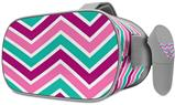 Decal style Skin Wrap compatible with Oculus Go Headset - Zig Zag Teal Pink Purple (OCULUS NOT INCLUDED)