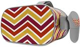 Decal style Skin Wrap compatible with Oculus Go Headset - Zig Zag Yellow Burgundy Orange (OCULUS NOT INCLUDED)