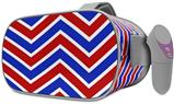Decal style Skin Wrap compatible with Oculus Go Headset - Zig Zag Red White and Blue (OCULUS NOT INCLUDED)