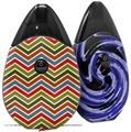 Skin Decal Wrap 2 Pack compatible with Suorin Drop Zig Zag Colors 01 VAPE NOT INCLUDED