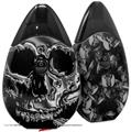 Skin Decal Wrap 2 Pack compatible with Suorin Drop Chrome Skull on Black VAPE NOT INCLUDED