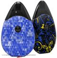 Skin Decal Wrap 2 Pack compatible with Suorin Drop Triangle Mosaic Blue VAPE NOT INCLUDED