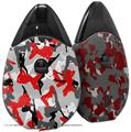 Skin Decal Wrap 2 Pack compatible with Suorin Drop Sexy Girl Silhouette Camo Red VAPE NOT INCLUDED