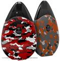 Skin Decal Wrap 2 Pack compatible with Suorin Drop WraptorCamo Digital Camo Red VAPE NOT INCLUDED