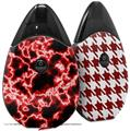 Skin Decal Wrap 2 Pack compatible with Suorin Drop Electrify Red VAPE NOT INCLUDED