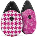 Skin Decal Wrap 2 Pack compatible with Suorin Drop Houndstooth Hot Pink VAPE NOT INCLUDED