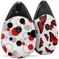 Skin Decal Wrap 2 Pack compatible with Suorin Drop Lots of Dots Red on White VAPE NOT INCLUDED