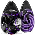 Skin Decal Wrap 2 Pack compatible with Suorin Drop Abstract 02 Purple VAPE NOT INCLUDED