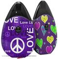 Skin Decal Wrap 2 Pack compatible with Suorin Drop Love and Peace Purple VAPE NOT INCLUDED