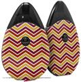 Skin Decal Wrap 2 Pack compatible with Suorin Drop Zig Zag Yellow Burgundy Orange VAPE NOT INCLUDED