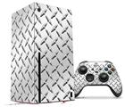 WraptorSkinz Skin Wrap compatible with the 2020 XBOX Series X Console and Controller Diamond Plate Metal (XBOX NOT INCLUDED)