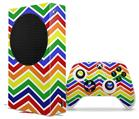 WraptorSkinz Skin Wrap compatible with the 2020 XBOX Series S Console and Controller Zig Zag Rainbow (XBOX NOT INCLUDED)