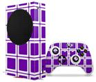 WraptorSkinz Skin Wrap compatible with the 2020 XBOX Series S Console and Controller Squared Purple (XBOX NOT INCLUDED)