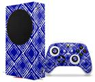 WraptorSkinz Skin Wrap compatible with the 2020 XBOX Series S Console and Controller Wavey Royal Blue (XBOX NOT INCLUDED)
