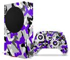 WraptorSkinz Skin Wrap compatible with the 2020 XBOX Series S Console and Controller Sexy Girl Silhouette Camo Purple (XBOX NOT INCLUDED)