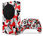 WraptorSkinz Skin Wrap compatible with the 2020 XBOX Series S Console and Controller Sexy Girl Silhouette Camo Red (XBOX NOT INCLUDED)