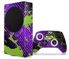 WraptorSkinz Skin Wrap compatible with the 2020 XBOX Series S Console and Controller Halftone Splatter Green Purple (XBOX NOT INCLUDED)