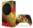 WraptorSkinz Skin Wrap compatible with the 2020 XBOX Series S Console and Controller Halftone Splatter Yellow Red (XBOX NOT INCLUDED)